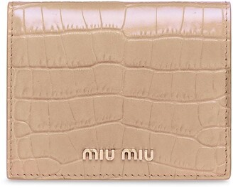 Miu Miu Crocodile-Effect Bi-Fold Wallet