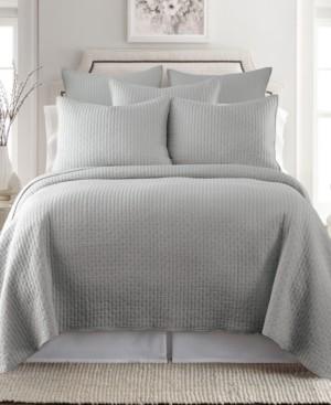 Levtex Home Cross Stitch Light Gray Full/Queen Quilt Set