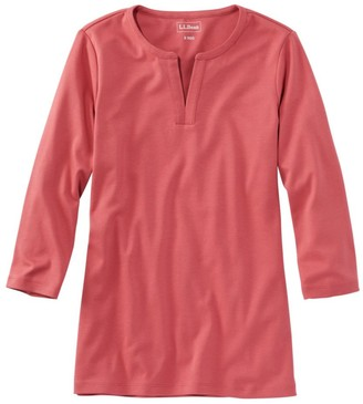 L.L. Bean Women's L.L.Bean Tee, Three-Quarter-Sleeve Splitneck Tunic