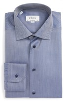 Eton Men's Contemporary Fit Chevron Dress Shirt