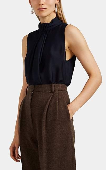 Giorgio Armani Women's Silk Sleeveless Blouse - Navy