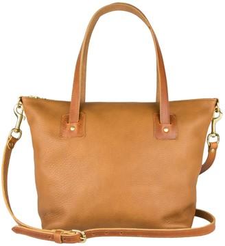 Village Leathers Loretta Leather Tote Bag - Tan