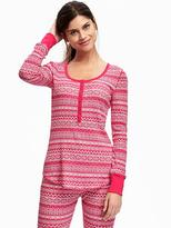 Old Navy Semi-Fitted Thermal Henley for Women
