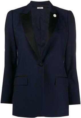 Lardini contrast lapel blazer