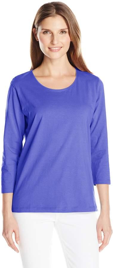 Fresh Women's Basic Long Sleeve Scoop Neck Top