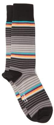 Paul Smith Graded Stripe Cotton Blend Socks - Mens - Grey