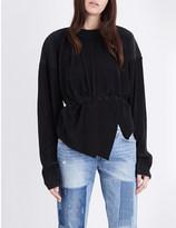 Off-White Asymmetric pleated sweatshirt