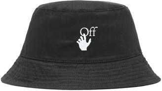 Off-White Logo cotton bucket hat