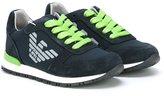 Armani Junior logo print sneakers