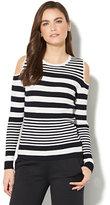 New York & Co. 7th Avenue - Cold-Shoulder Striped Sweater