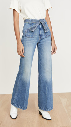 Mother The Tie Patch Roller Jeans