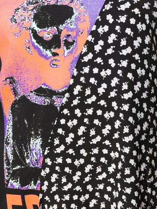 McQ Asymmetric Flared Midi Dress