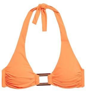 Melissa Odabash Buckle-embellished Halterneck Bikini Top