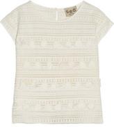 Sea Tasseled Crochet-Knit Cotton Top