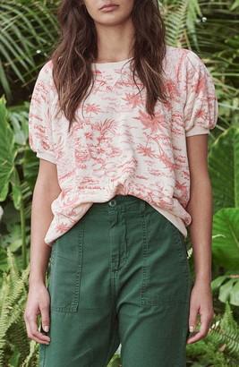 The Great The Short Sleeve Puff Tropical Print Sweatshirt