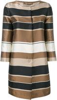 Herno striped coat - women - Silk/Polyester - 46