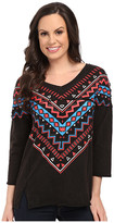 Rock and Roll Cowgirl 3/4 Sleeve Top 48-5041