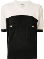 Chanel Pre Owned CC button knitted top