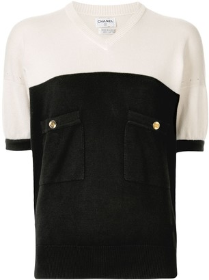 Chanel Pre-Owned CC button knitted top
