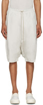 Rick Owens Off-White Jersey Pods Shorts