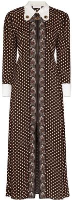 Chloé Art Deco Polka Dot Print Dress