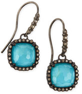 Armenta Old World Midnight Cushion Doublet Earrings with Diamonds