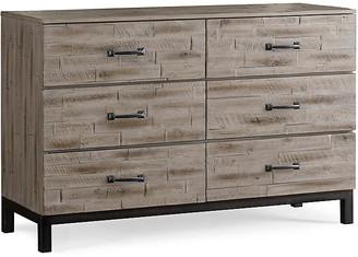 ED Ellen Degeneres Romero 6-Drawer Dresser - Barnwood Gray frame, barnwood gray; hardware, pewter