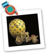 Faberge 3dRose LLC qs_568_1 Eggs - Picturing Egg Coronation - Quilt Squares
