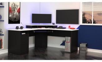 Wolters L-Shape Computer Desk Ebern Designs Color: Tuscany Brown