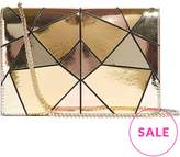 Karen Millen Metallic Patchwork Chain Cross-Body Bag- Multicolour