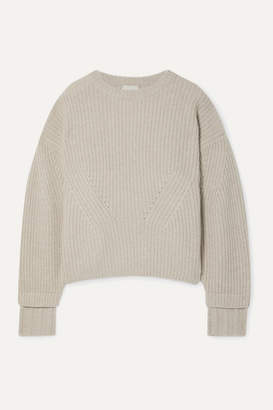BEIGE Le Kasha - Noodle Oversized Ribbed Cashmere Sweater