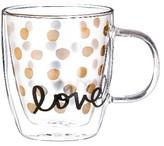 "Evergreen Love"" Glass Café Cup - 12oz."