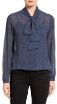 MICHAEL Michael Kors Women's Print Tie Neck Blouse