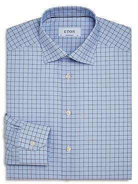 Eton Cotton Checkered Regular-Fit Dress Shirt