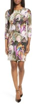 Karen Kane Petite Women's Painted Floral Sheath Dress