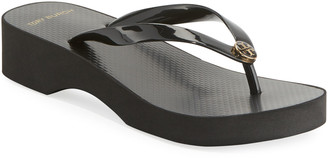 Tory Burch Wedge-Heel Flip-Flop Sandal