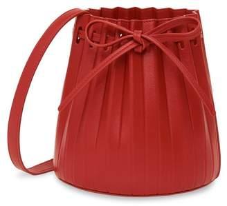 Mansur Gavriel Lamb Mini Pleated Bucket Bag - Flamma