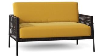 Woodard Maiz Loveseat with Cushions Cushion Color: Brisa Starry Night