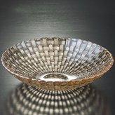 WQWQ fruit plate creative woven glass fruit plate European gold household table fruit bowl crystal glass fruit fruit plate large living room