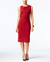 ECI Lace-Up Sheath Dress