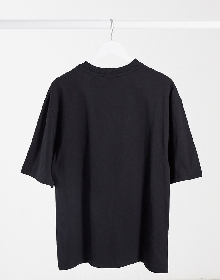 Thumbnail for your product : Collusion Unisex oversized t-shirt with print in black