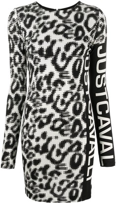 Just Cavalli Leopard-Print Mini Dress