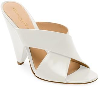 Gianvito Rossi Leather Triangle Heel Mule Sandals
