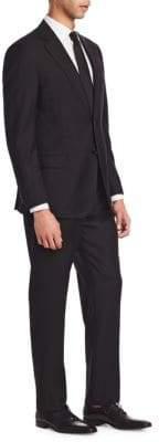 Emporio Armani Black Solid Super 130s G Line Suit
