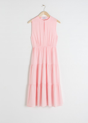 And other stories Tiered Sleeveless Midi Dress