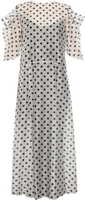 Anna October Anna's Pleasure Garden Polka Dot Organza Midi Dress