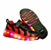 CPS Kids Girls Boys Light Up Wheels Roller Shoes Skates Sneakers