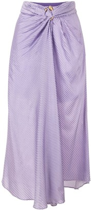 Acler Blackburn ribbed midi skirt