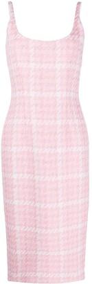 Alessandra Rich Tweed Midi Dress