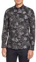 Ted Baker Konkord Slim Fit Floral Print Sport Shirt